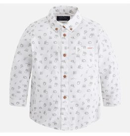 Mayoral Long Sleeve Camera Print Shirt