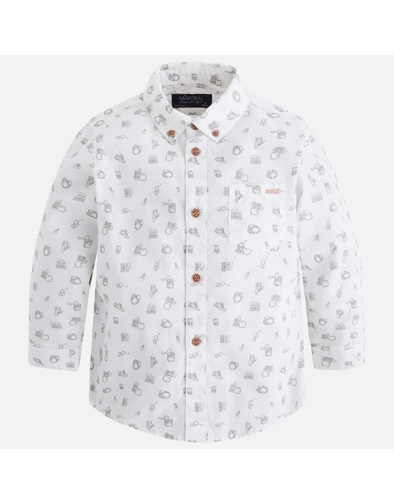 Mayoral Long Sleeve Camera Print Shirt
