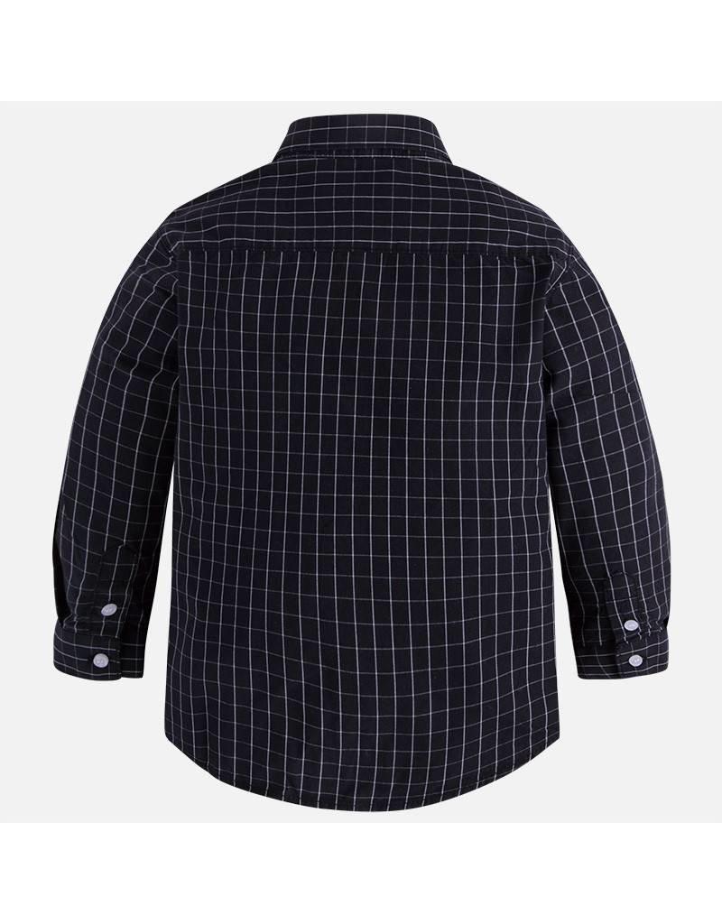 Mayoral Long Sleeve Window Pane Plaid Print Shirt