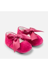 Mayoral Raspberry Bow Mary Jane Pram Shoes