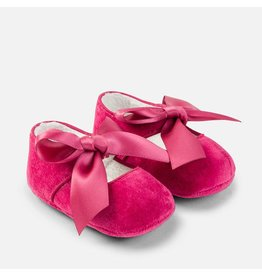 Mayoral Raspberry Bow Mary Jane Pram Shoes
