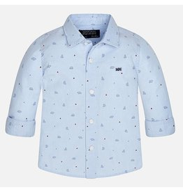 Mayoral Mayoral: Bear Print Baby Button Down