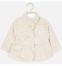 Mayoral Mayoral: Beige Faux Fur Baby Coat