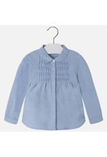 Mayoral Mayoral: Pin-Tuck Oxford Blouse