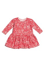 Winter Water Factory Organic Cotton Olga Dress in Woodlands