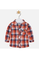Mayoral Moose Print Plaid Baby Shirt