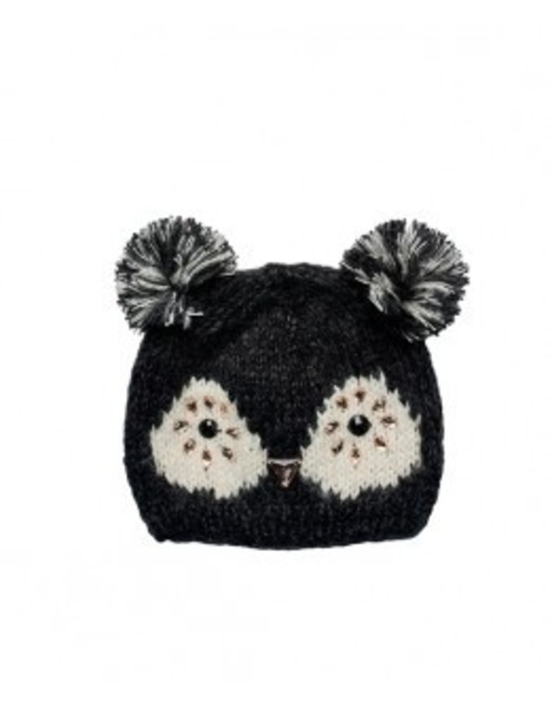 Jeweled Owl Knit Cap