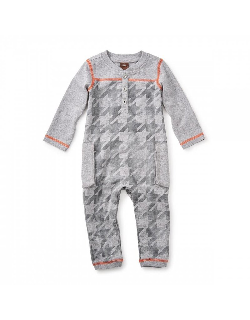 Tea Collection Tea Collection: Houndstooth Cargo Romper