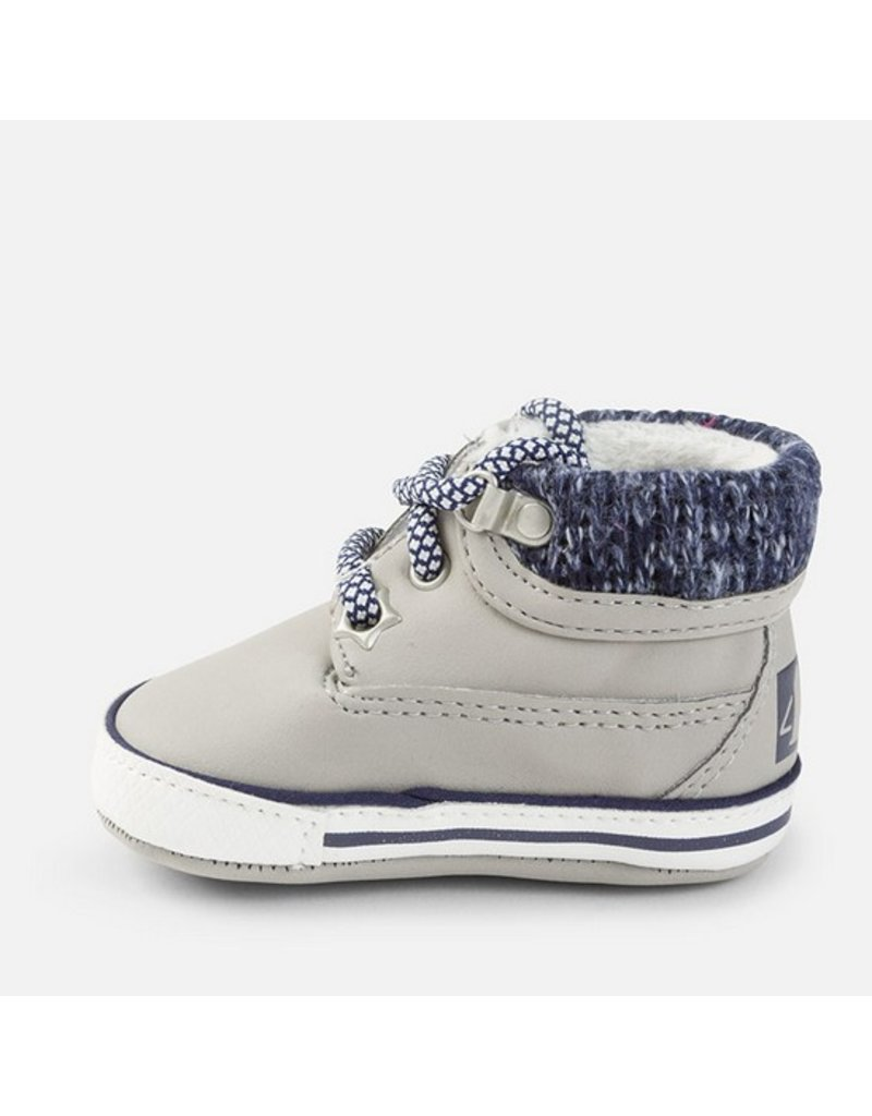Mayoral Mayoral: Laced Boot Crib Shoes