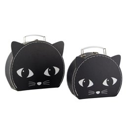 Sass & Belle Sass & Belle:  Black Cat Suitcase Set