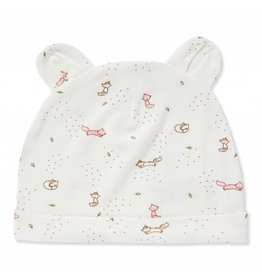 Angel Dear Ditsy Pink Fox Beanie with Ears