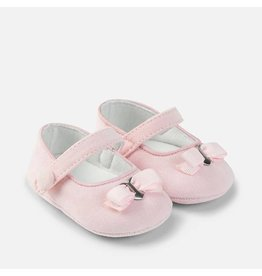 Mayoral Pink Corduroy Mary Jane Pram Shoes