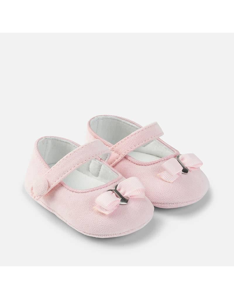 Mayoral Pink Corduroy Mary Jane Pram Shoes
