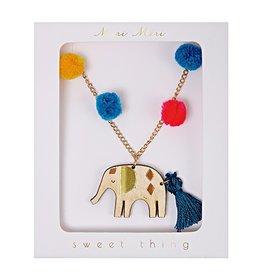 Meri Meri Meri Meri:  Pom Pom Elephant Necklace