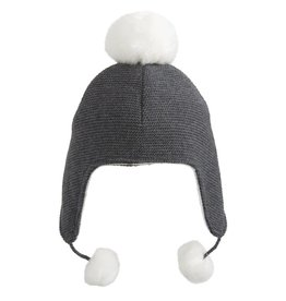 Knit Aviator Hat Pom