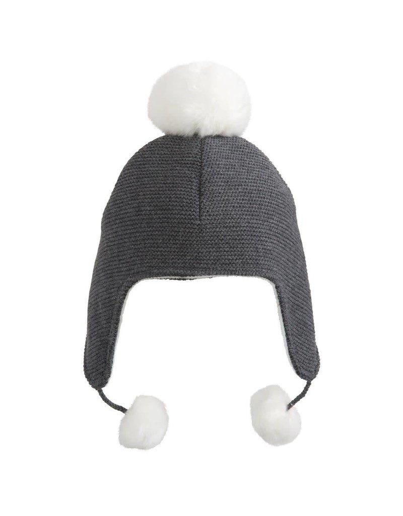 Knit Aviator Hat Pom