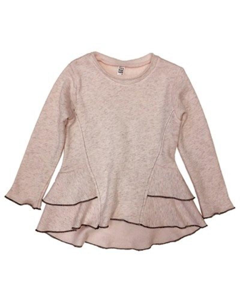 Nano Nano: Girls Mint Fleece Peplum Top