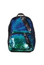 Magic Sequin Large Backpack: Mermaid/Black