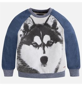 Mayoral Mayoral: Husky Print Fleece Top