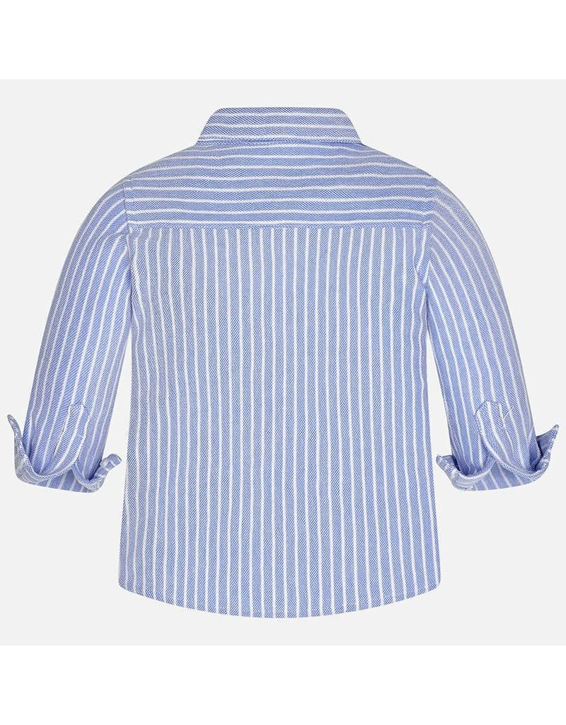 Mayoral Mayoral: Ticking Stripe Baby Shirt