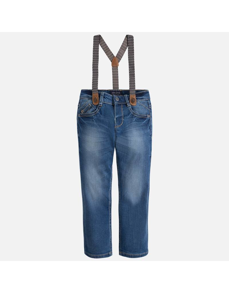 Mayoral Mayoral:  Denim Trousers with Suspenders