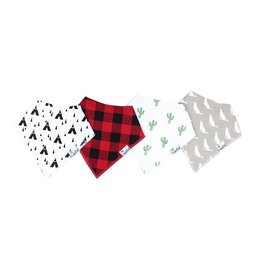 Copper Pearl Copper Pearl: 4-Pack Bandana Bib Set (blues/greys)