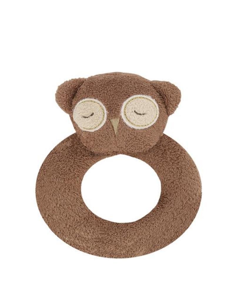 Angel Dear Angel Dear Ring Rattle: Brown Owl