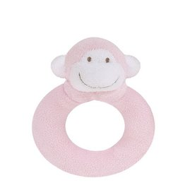 Angel Dear Angel Dear Ring Rattle: Pink Monkey