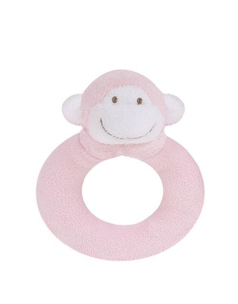 Angel Dear Angel Dear Ring Rattle: Pink Monkey