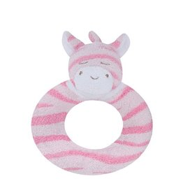 Angel Dear Angel Dear Ring Rattle: Pink Zebra