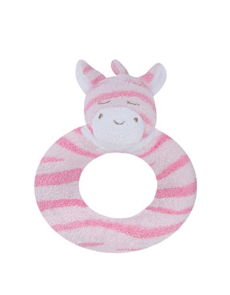 Angel Dear Angel Dear Ring Rattle: Pink Zebra