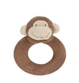 Angel Dear Angel Dear Ring Rattle: Brown Monkey