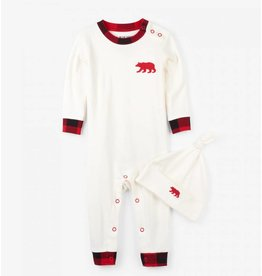 Hatley Buffalo Plaid Coverall & Cap Set