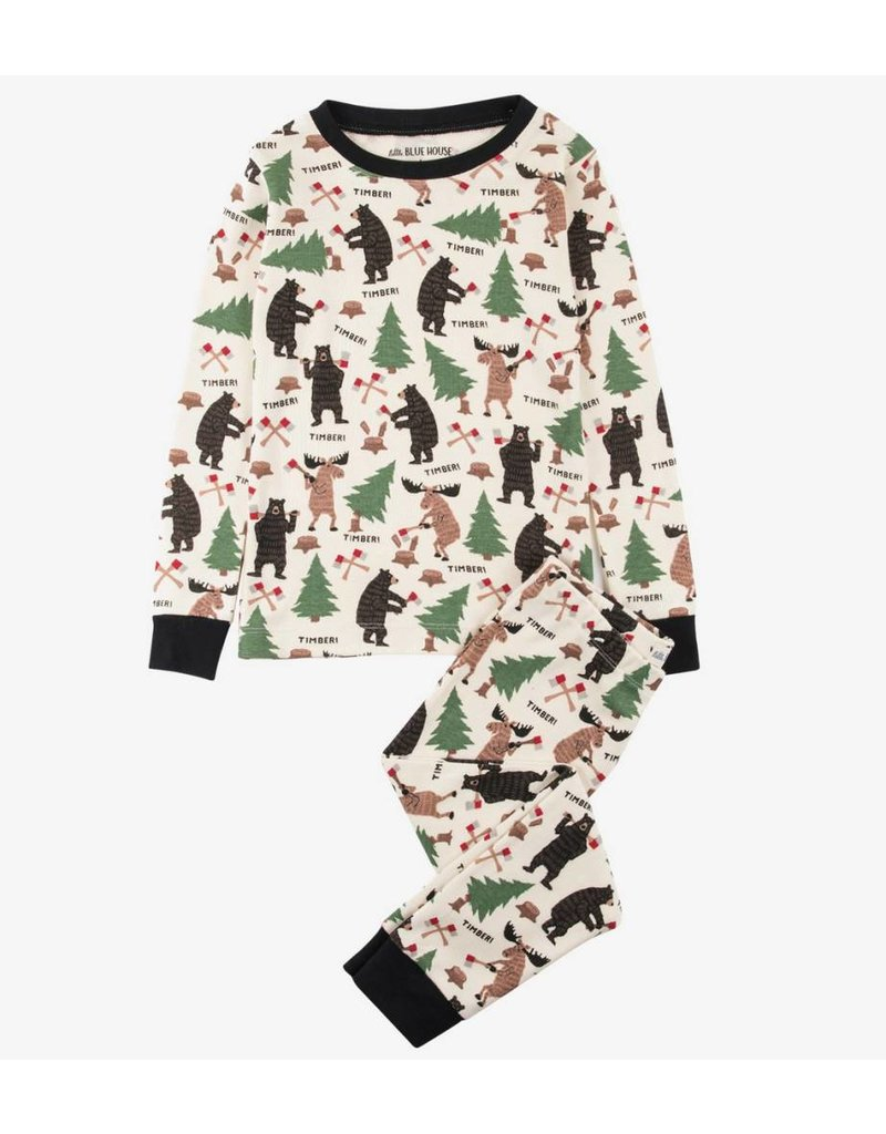 Hatley Lumberjack Animals PJ Set
