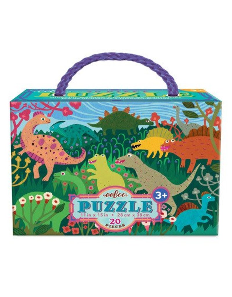 eeBoo Dinosaur Meadow 20pc Puzzle