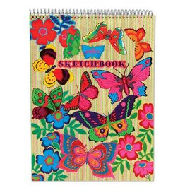eeBoo Flourescent Butterflies Sketchbook
