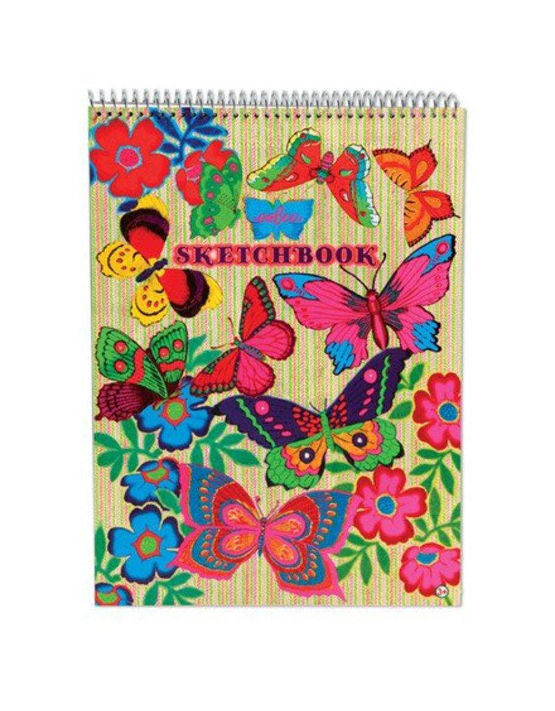 eeBoo Flourescent Butterflies Sketchbook