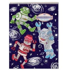 eeBoo Silver Robots Sketchbook