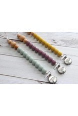 Silicone & Wood Bead Pacifier Clip
