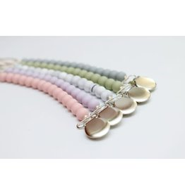Solid Color Silicone Bead Pacifier Clip