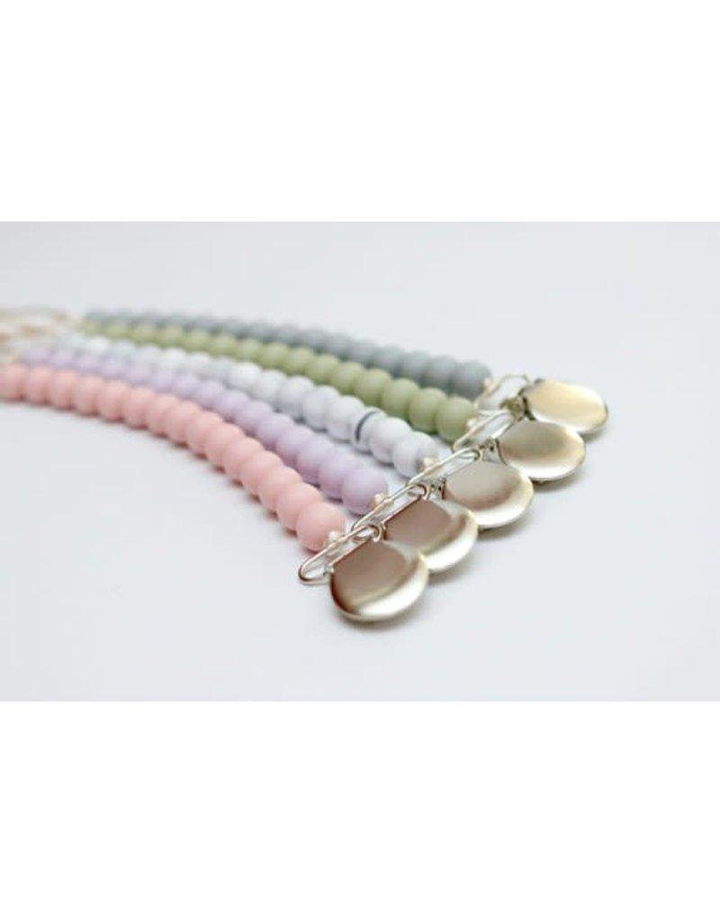 Solid Color Silicone Bead Pacifier Clip