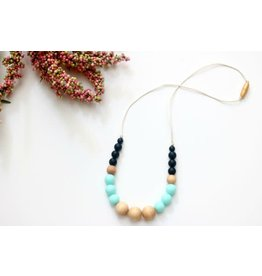 Round Wood & Silicone Bead Teething Necklace