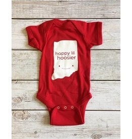 Kitten and Acorn Kitten & Acorn:  Happy Hoosier Onesie