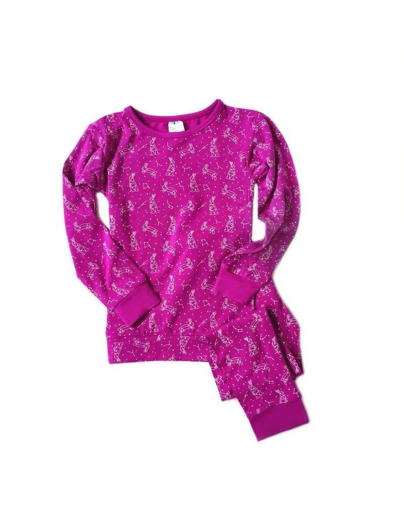 Pink Constellation Pajama Set by Nohi Kids