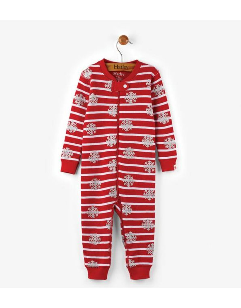 Hatley Candy Cane Mini Waffle Coverall