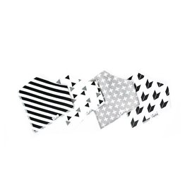 Copper Pearl Copper Pearl: 4-Pack Bandana Bib Set (black/white) Shade