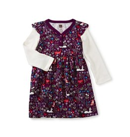 Tea Collection Woodland Baby Button Neck Dress by Tea Collection