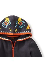 Tea Collection Dragonhead Zip Hoodie by Tea Collection