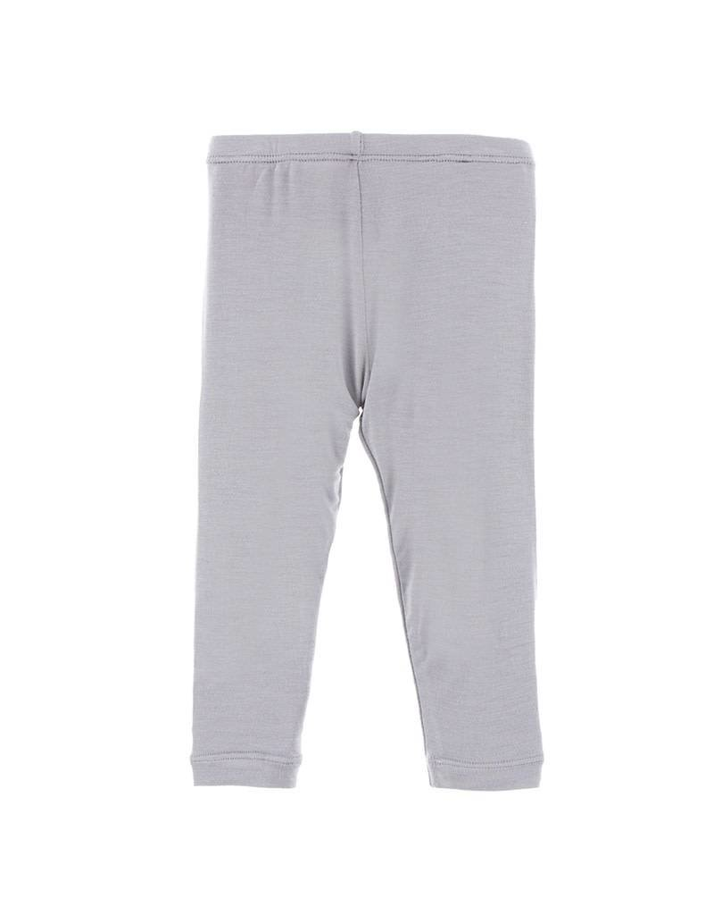 Kickee Pants Feather Grey Bamboo Blend Leggings by Kickee Pants