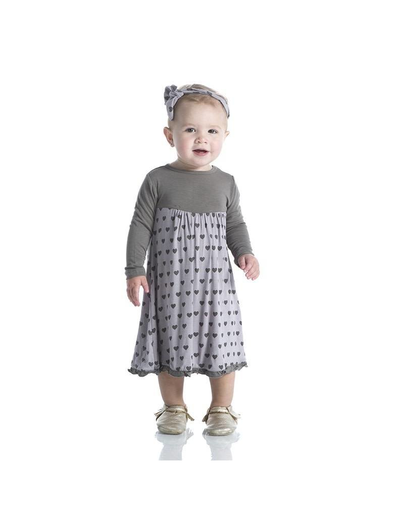 Kickee Pants Feather Hearts Classic Swing Dress by Kickee Pants